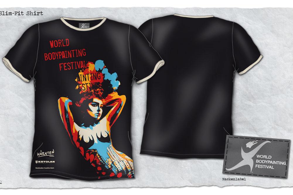 Body Painting Festival shirt und Nackenlabel - Galvi